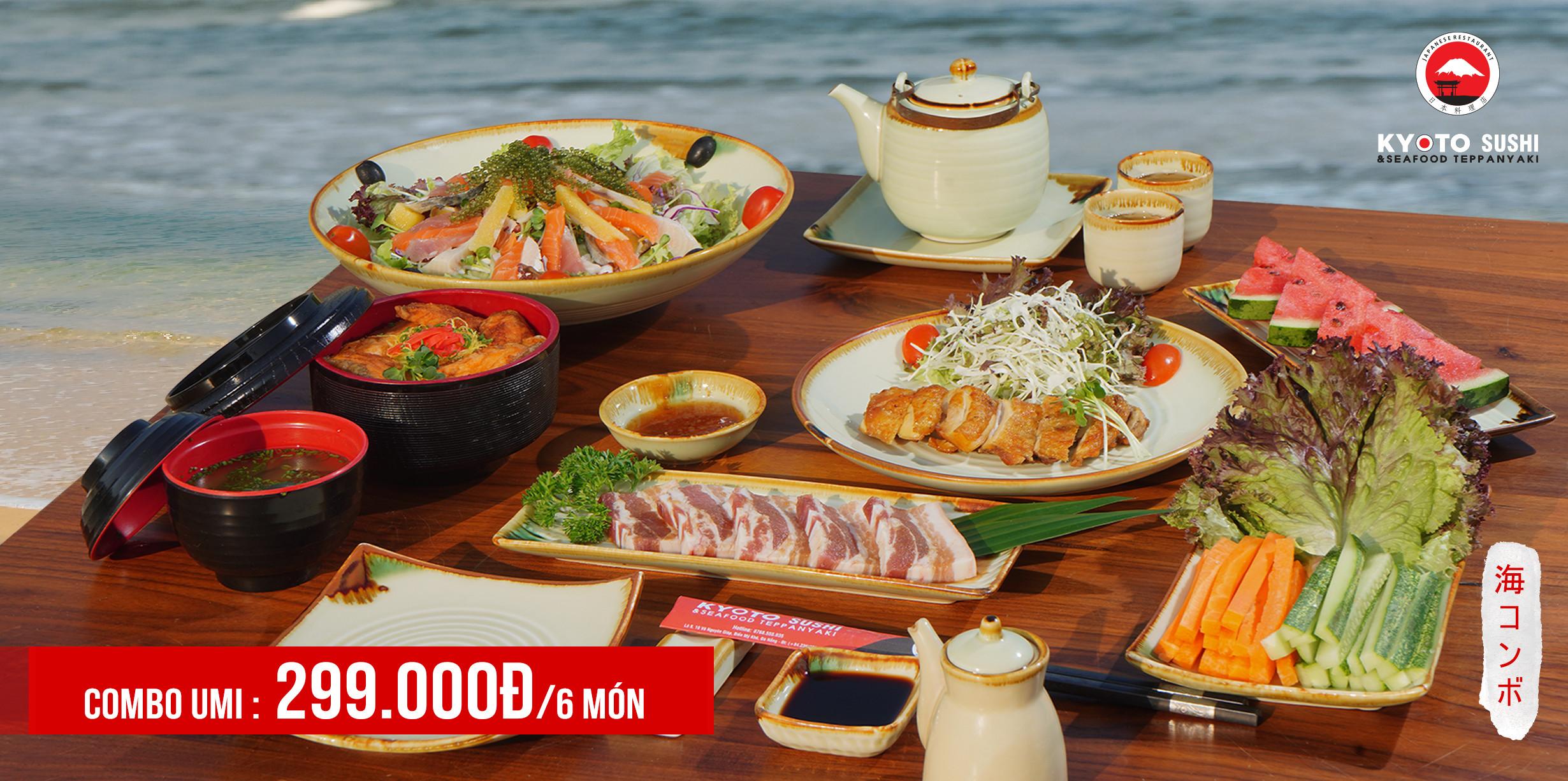 Combo Umi Sóng (うみ): 299.000Đ/ 6 món (dành cho 2 người)